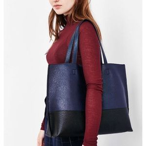 Urban Outfitters Reversible Navy & Black Tote